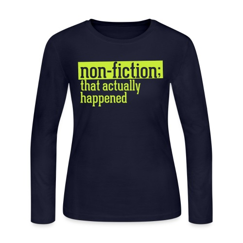 non fiction.png - Women's Long Sleeve Jersey T-Shirt