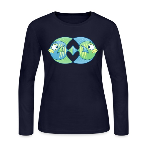 Tropical fishes remain in love despite conflicts - Women's Long Sleeve Jersey T-Shirt