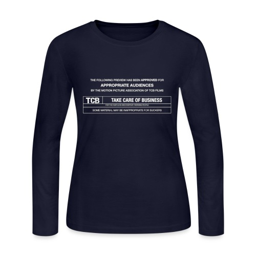 TCB Films Disclamer - Women's Long Sleeve Jersey T-Shirt