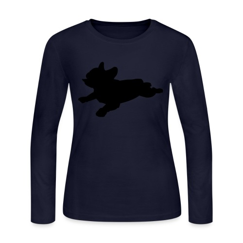 Frenchie Mom Sweatshirt - Women's Long Sleeve Jersey T-Shirt