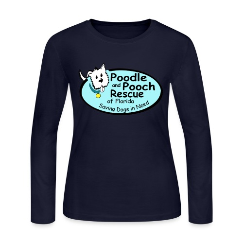 Poodle and Pooch Logo - Women's Long Sleeve Jersey T-Shirt