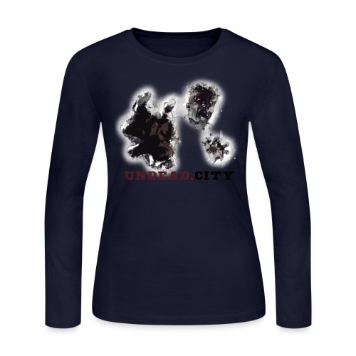 Zombie Undead City - Women's Long Sleeve Jersey T-Shirt