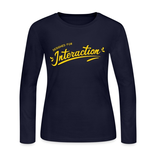 Designed for Interaction - Women's Long Sleeve Jersey T-Shirt