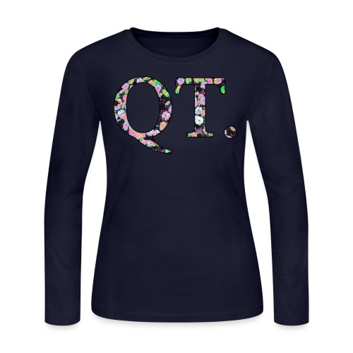 QT AND CUTE - Women's Long Sleeve Jersey T-Shirt