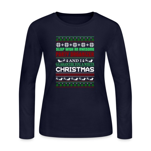 UGLY SWEATER PARTY ORGANIZER T-SHIRTS - Women's Long Sleeve Jersey T-Shirt