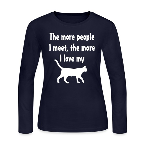 I love my cat - Women's Long Sleeve Jersey T-Shirt