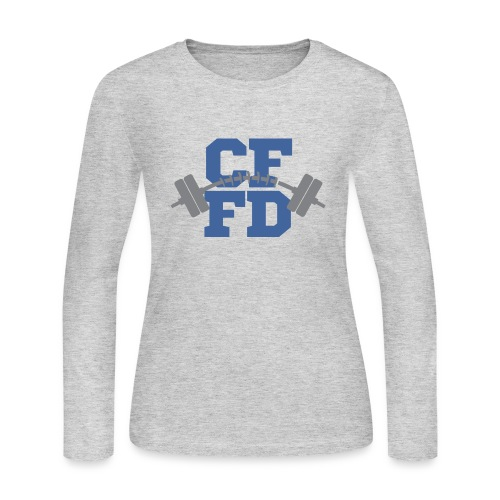 CFFD Barbell - Women's Long Sleeve Jersey T-Shirt