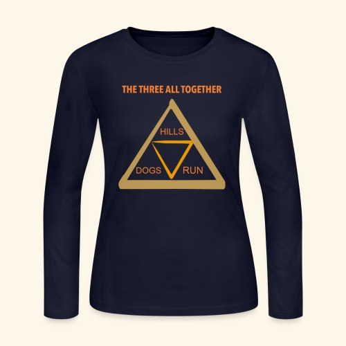Run4Dogs Triangle - Women's Long Sleeve Jersey T-Shirt