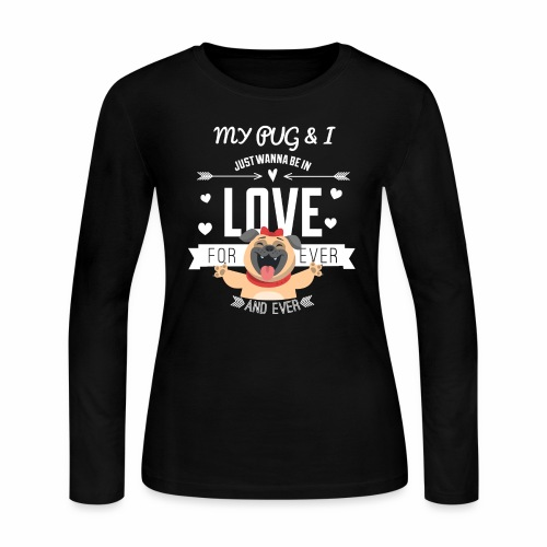 In love with my PUG - Women's Long Sleeve Jersey T-Shirt