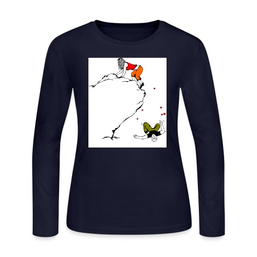 Lady Climber - Women's Long Sleeve Jersey T-Shirt