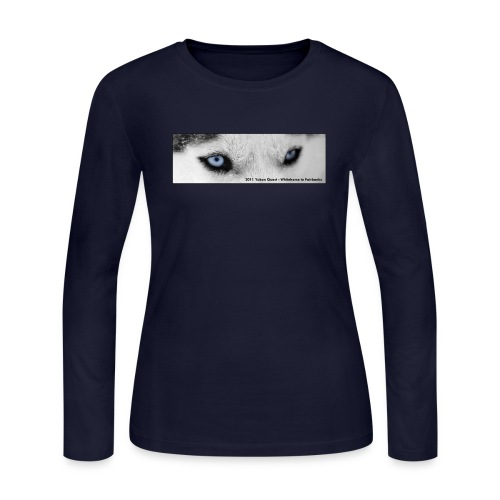 husky eyes for shirts 2011 text - Women's Long Sleeve Jersey T-Shirt