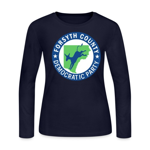 Forsyth County Democratic Party Logo - Women's Long Sleeve Jersey T-Shirt