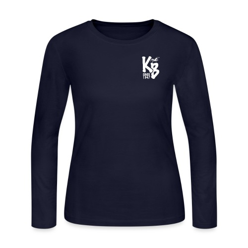 Kure Beach Day-White Lettering-Front and Back - Women's Long Sleeve Jersey T-Shirt