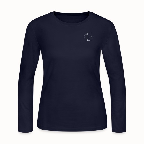 White Star of Life Outline png - Women's Long Sleeve Jersey T-Shirt