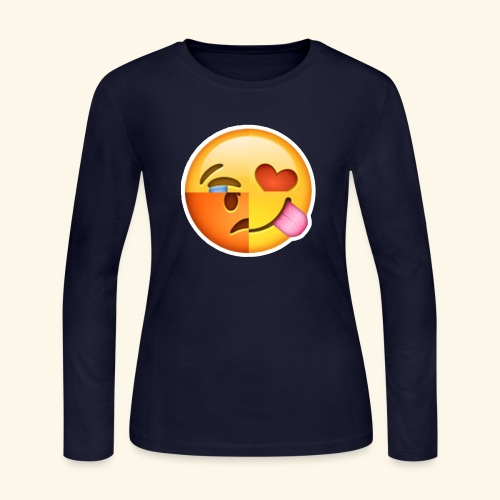 E Tees , Unique , Love , Cry, angry - Women's Long Sleeve Jersey T-Shirt