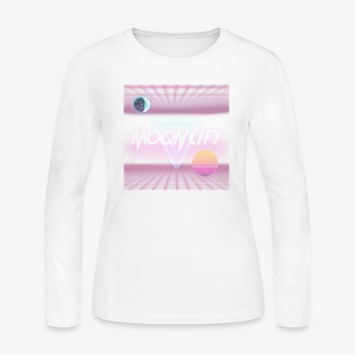 Moon City Retrogrid - Women's Long Sleeve Jersey T-Shirt