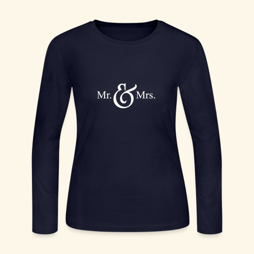MR.& MRS . TEE SHIRT - Women's Long Sleeve Jersey T-Shirt