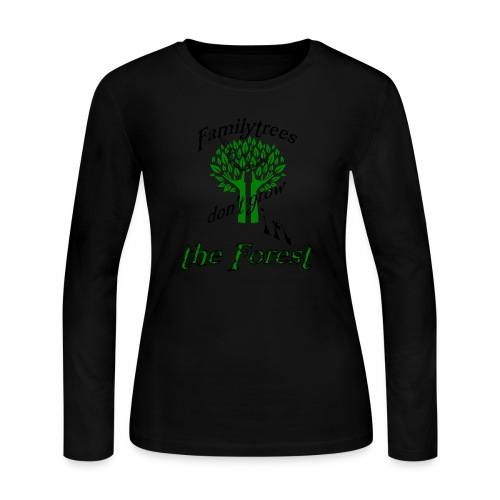 genealogy family tree forest funny birthday gift - Women's Long Sleeve Jersey T-Shirt