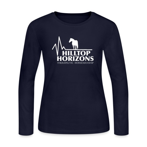 Hilltop Horizons Traditional Logo - Women's Long Sleeve Jersey T-Shirt