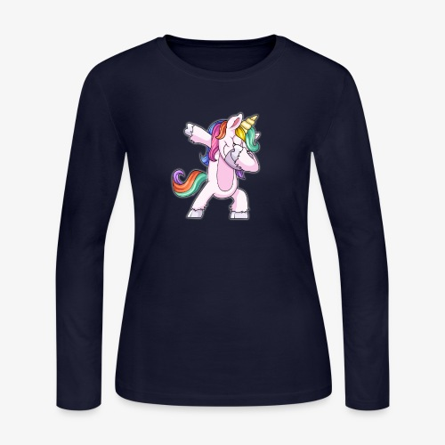 DABBING UNICORN Kid - Women's Long Sleeve Jersey T-Shirt