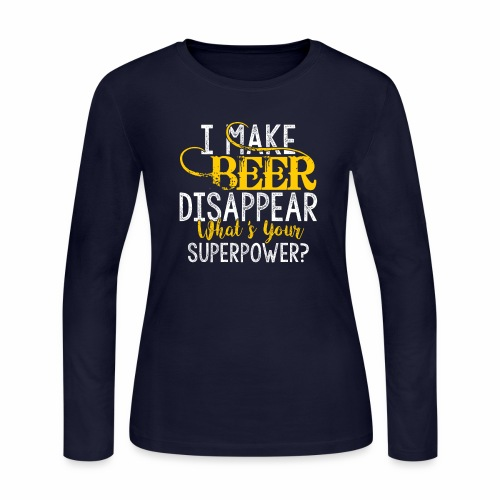 I make beer disappear - Women's Long Sleeve Jersey T-Shirt