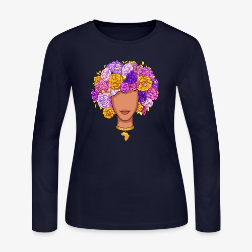 Flower Woman - Women's Long Sleeve Jersey T-Shirt