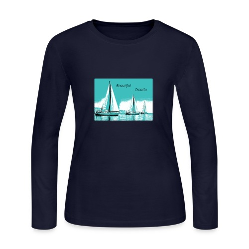 Beautiful Croatia - Women's Long Sleeve Jersey T-Shirt