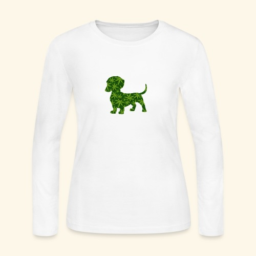 PUFFY DOG - PRESENT FOR SMOKING DOGLOVER - Women's Long Sleeve Jersey T-Shirt