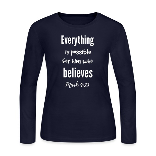 Everything is Possible - Women's Long Sleeve Jersey T-Shirt
