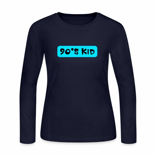 90's KID - Women's Long Sleeve Jersey T-Shirt