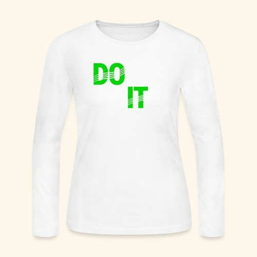 DON'T QUIT #4 - Women's Long Sleeve Jersey T-Shirt