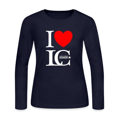 I Heart LCDance - Women's Long Sleeve Jersey T-Shirt