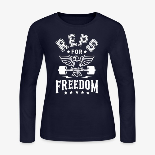 Reps For Freedom v2 - Women's Long Sleeve Jersey T-Shirt