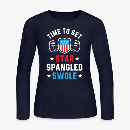 Time To Get Star Spangled Swole - Women's Long Sleeve Jersey T-Shirt