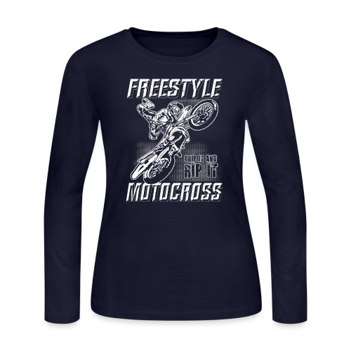 Freestyle Motocross Stunt - Women's Long Sleeve Jersey T-Shirt