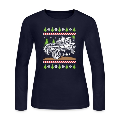 Ugly Christmas Jeeper - Women's Long Sleeve Jersey T-Shirt
