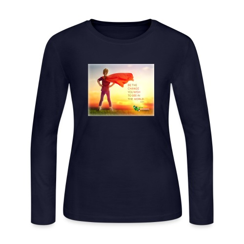 Education Superhero - Women's Long Sleeve Jersey T-Shirt