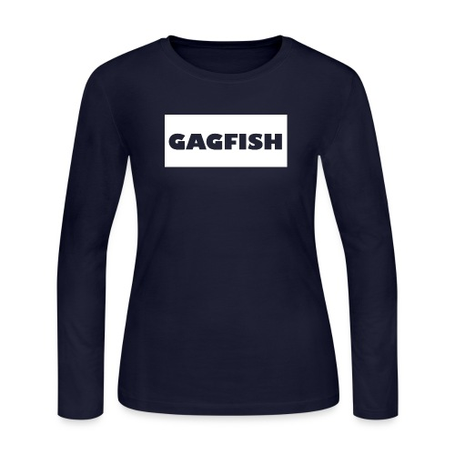 GAGFISH WIGHT LOGO - Women's Long Sleeve Jersey T-Shirt