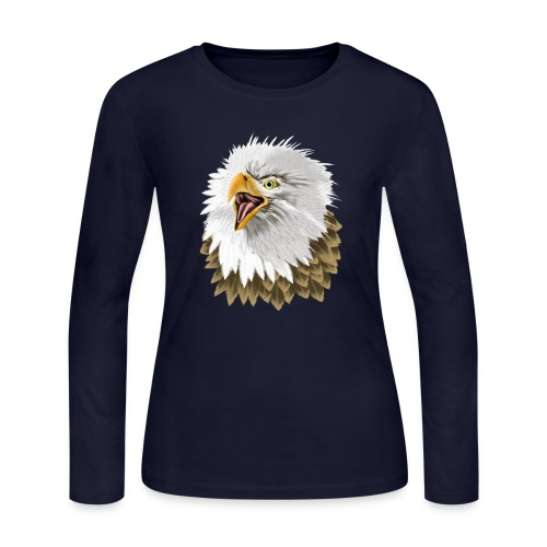 Big, Bold Eagle - Women's Long Sleeve Jersey T-Shirt