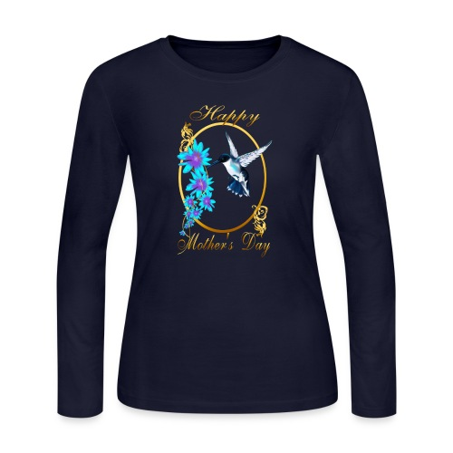 Mother's Day with humming birds - Women's Long Sleeve Jersey T-Shirt
