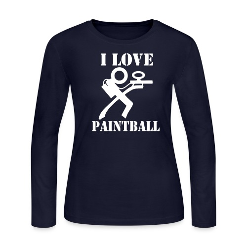 I Love Paintball 2019 - Women's Long Sleeve Jersey T-Shirt