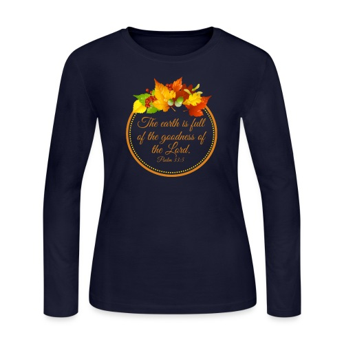 Psalm 33:5 - Women's Long Sleeve Jersey T-Shirt