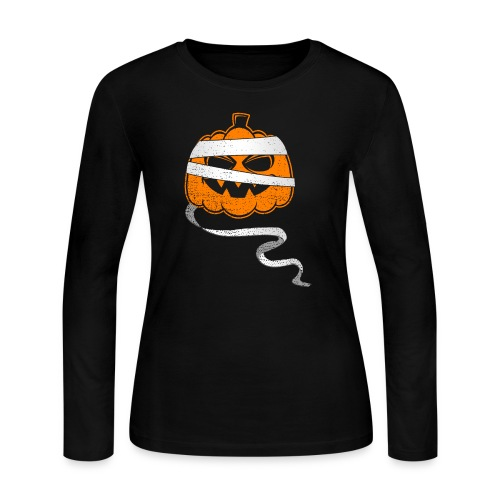 Halloween Bandaged Pumpkin - Women's Long Sleeve Jersey T-Shirt