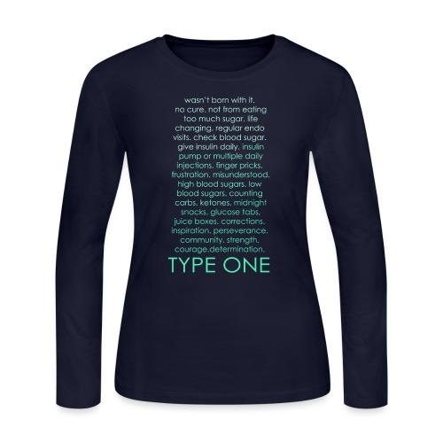The Inspire Collection - Type One - Green - Women's Long Sleeve Jersey T-Shirt
