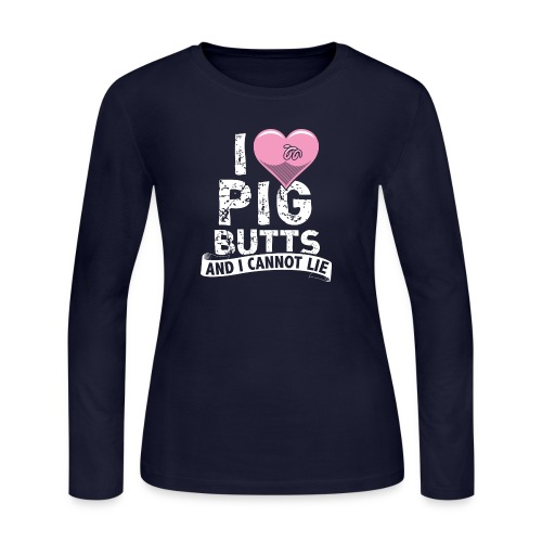 pigbutts4000px - Women's Long Sleeve Jersey T-Shirt