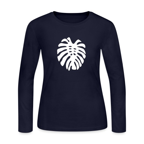Monstera Leaf motif - Women's Long Sleeve Jersey T-Shirt