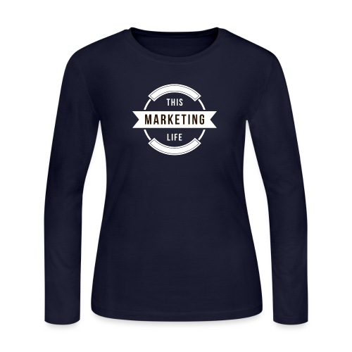This Marketing Life Logo White - Women's Long Sleeve Jersey T-Shirt