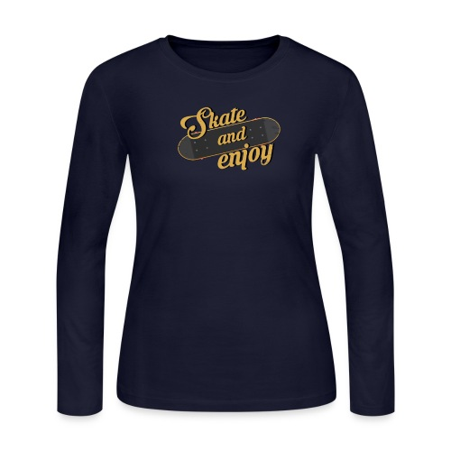 Skate And Enjoy - Women's Long Sleeve Jersey T-Shirt