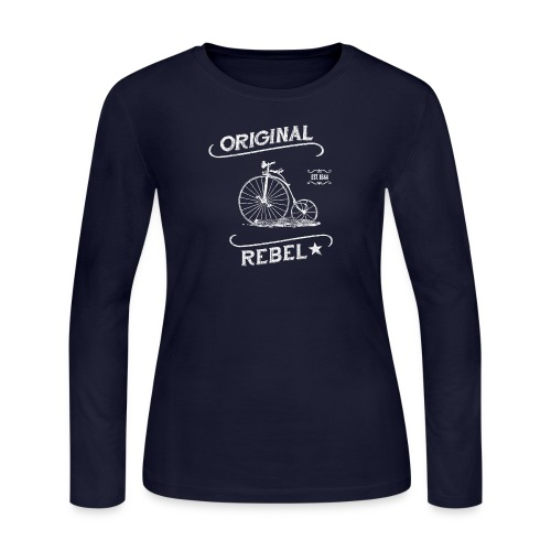 Original Rebel White - Women's Long Sleeve Jersey T-Shirt