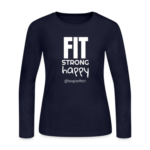 fit strong happy white - Women's Long Sleeve Jersey T-Shirt